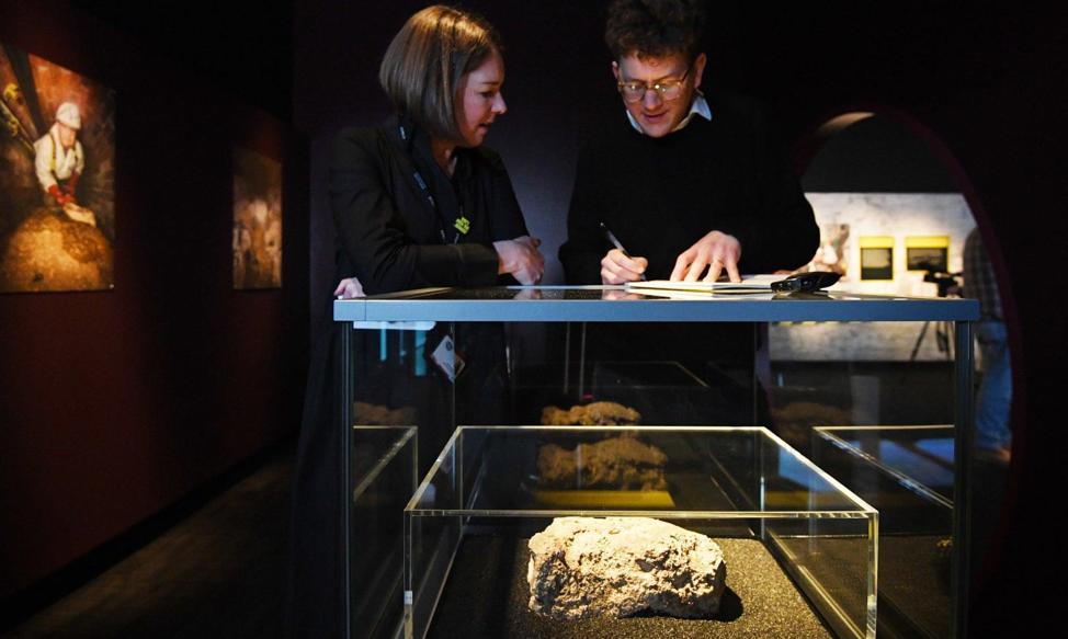 Whitechapel fatberg in Museum of London